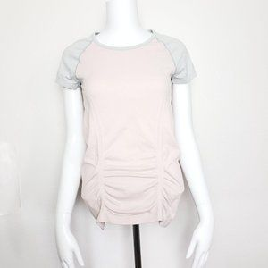 Athleta Fastest Track Fitted T-Shirt Pink Gray S